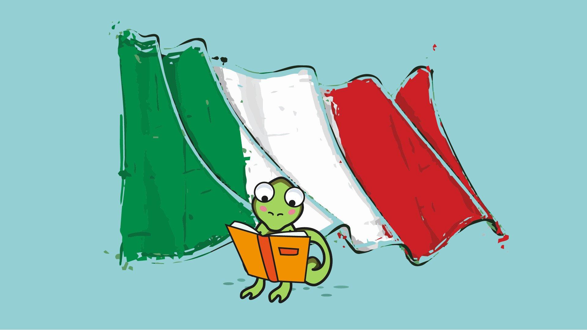 Bandiera italiana simbolo dello studio dell'educazione civica a scuola.